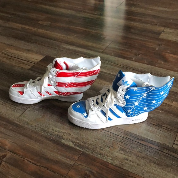detailed pictures 1dad4 286f7 Jeremy Scott x Adidas Other - Jeremy Scott Adidas Originals American Flag  Shoes